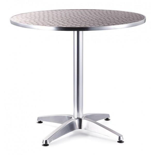 Mesa redonda aluminio 60 mesa aluminio mesa para for Mesa jardin aluminio