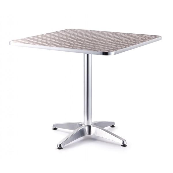 Mesa aluminio cuadrada 80x80 mesa aluminio mesa para for Mesa jardin aluminio